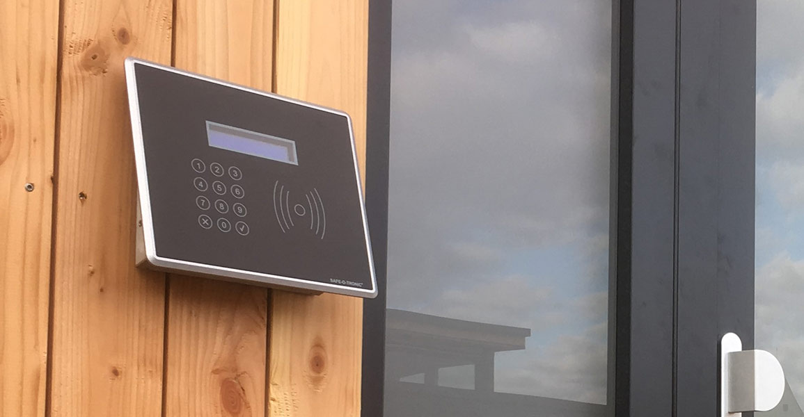 electronic door lock at the Grafenegg Cottages